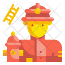 Firefighter People Job Icon