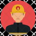 Firefighter Man Avatar Icon