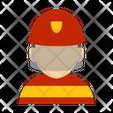 Firefighter Fire Emergency Icon