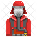 Firefighter Fire Man Man Icon