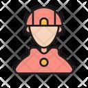 Emergency Safety Fireman Icon