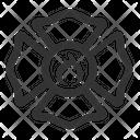 Firefighter Emblem Fireman Emblem Fire Emergency Emblem Icon