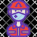Firefighter Fireman Avatar Icon