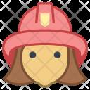 Fireman Female Avatar Icon