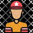 Avatar Emoji Fireman Icon
