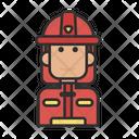 Firefighter Fireman Emergency Icon