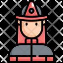 Fireman Emergency Emergencies Icon