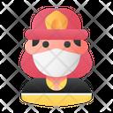 Fireman Avatar Man Icon