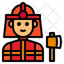 Fireman Firefighter Avatar Icon