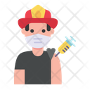 Fireman Vaccination Icon