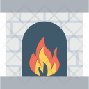 Fireplace Hearth Fireside Icon