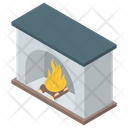 Fireplace Chimney Furnace Icon