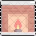 Fireplace Interior Furniture Icon