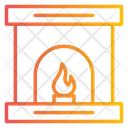 Fireplace Fire Burning Icon