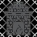 Christmas Fireplace Holiday Icon
