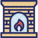 Fire Fireplace Flame Icon