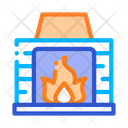 Fireplace Fire Heating Icon