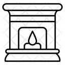 Fireplace Grate Home Hearth Icon