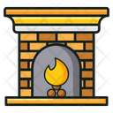 Fireplace Inglenook Firelamp Icon