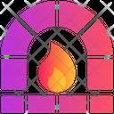 Fireplace Winter Warm Icon