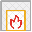 Fireplace Fire Hot Icon