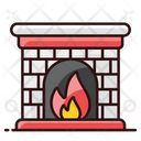 Fireplace Furnace Indoor Fire Icon