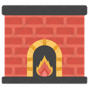 Fireplace Heating System Campfire Icon