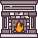 Fire Fireplace Living Room Icon