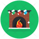 Fireplace Centrally Heated Firelamp Icon