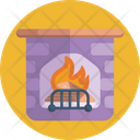 Fireplace Fire Place Fireside Icon