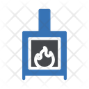 Fireplace Chimney Flame Icon