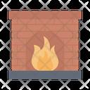 Chimney Fireplace House Icon