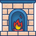 Fireplace Fire Winter Icon