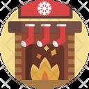 Christmas Fireplace Xmas Icon
