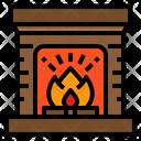 Fireplace Xmas Christmas Icon