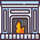 Fireplace Living Room Chimney Icon