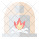 Fireplace Chimney Home Icon