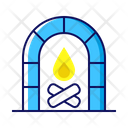 Christmas Winter Fire Icon