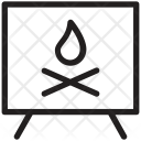 Fireplace Grate Hearth Icon