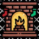Fireplace Christmas Xmas Icon