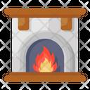 Fireplace Fire Lamp Bonfire Icon
