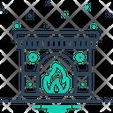 Fireplace Chimney Mantelpiece Icon