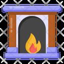 Fire Hearth Fireplace Fireside Icon