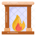 Fireplace Fire Furnace Hearth Icon
