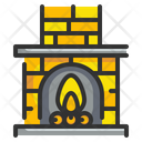 Fireplace Chimney Fire Icon