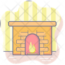 Christmas Holiday Fireplace Icon