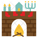 Fireplace Christmas Stocking Icon