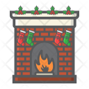 Fireplace Winter Decoration Icon