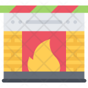 Fireplace New Year Icon