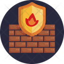 Firewall Secure Security Icon